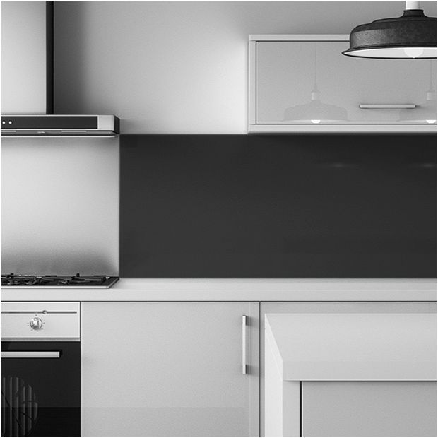 Mazan Black Splashback Panels