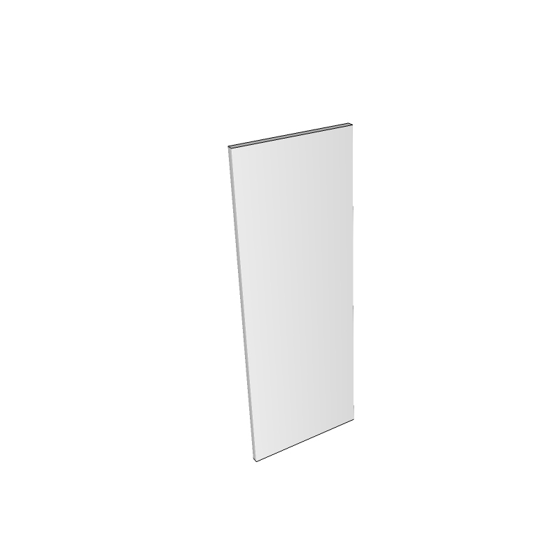 Millbrook Painted Wall End Panel - Plain - 960 x 350mm