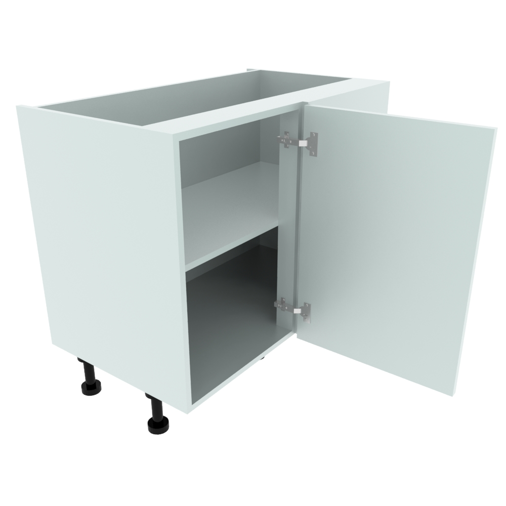 1000mm Highline Corner Base Unit - 500mm LH Hand Door (Adjustable Post)