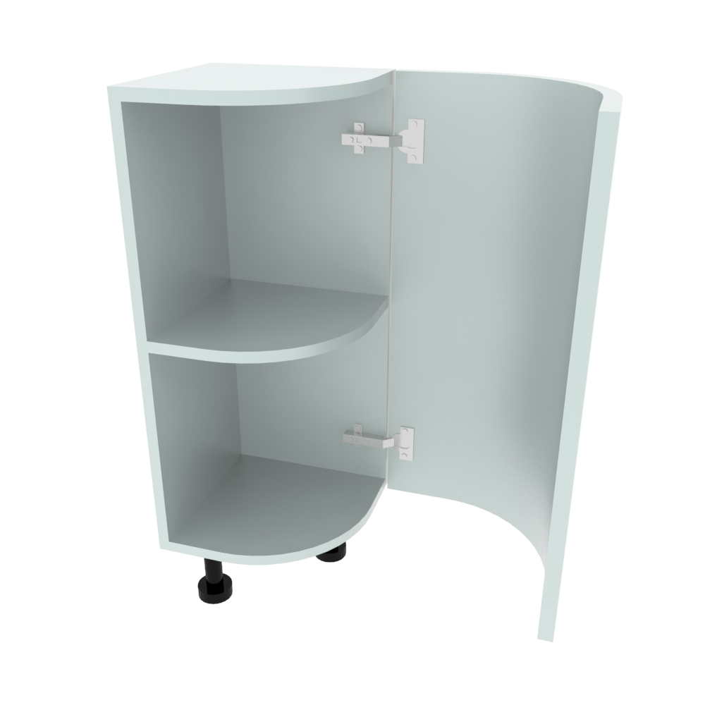Curved Base Unit - 300 x 300mm - (R=214mm) (Right End)