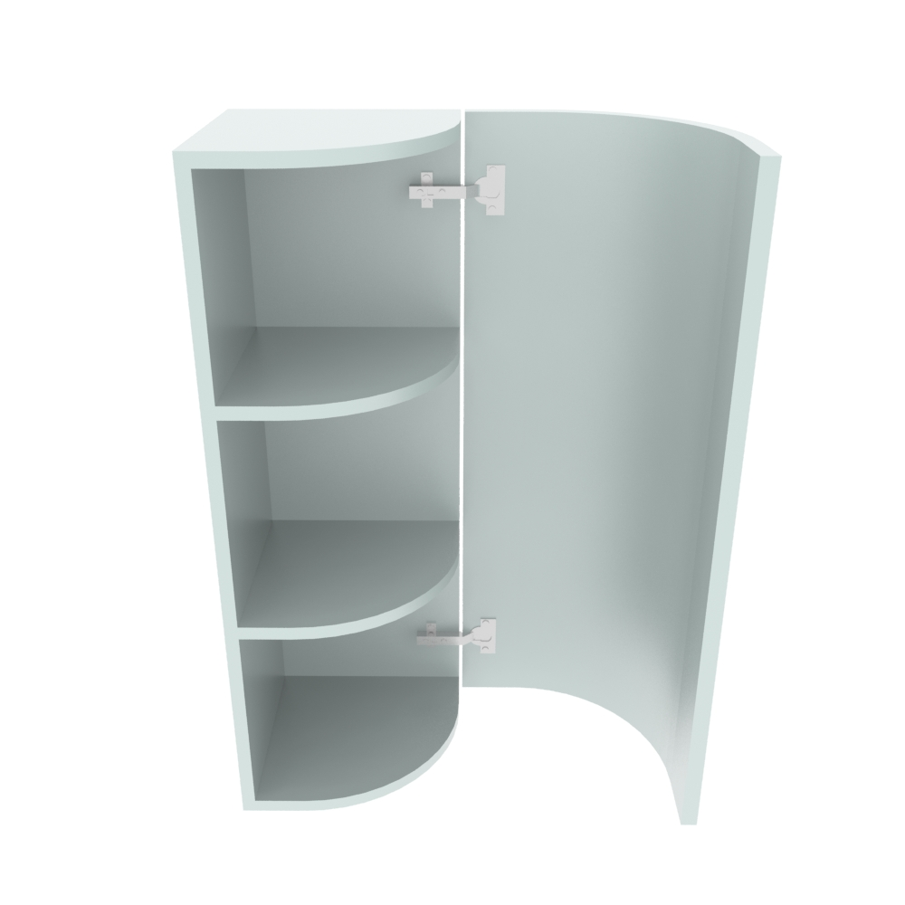 Curved Wall Unit 300 X 300mm High R 214mm Right End