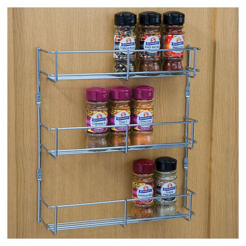 Wire Spice Rack For Door Mounting