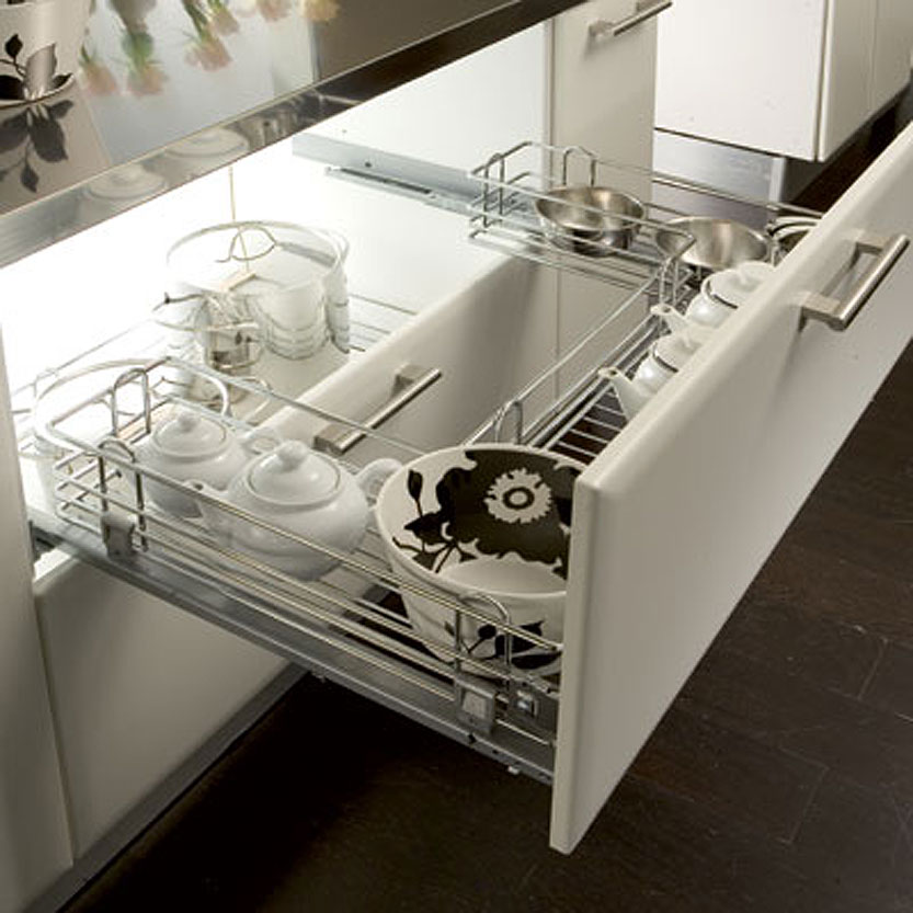Undersink Pull-Out Wire Basket Set