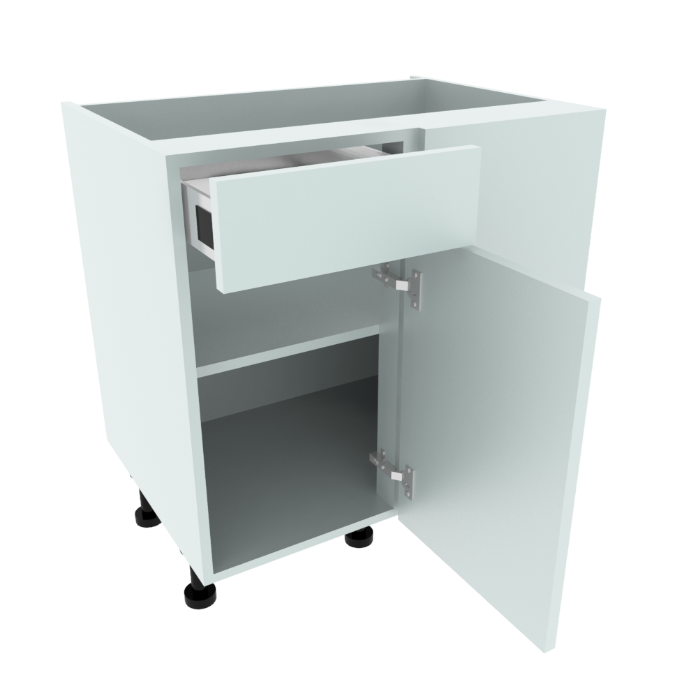 800mm Drawerline Corner Base Unit - 400mm LH Hand Door