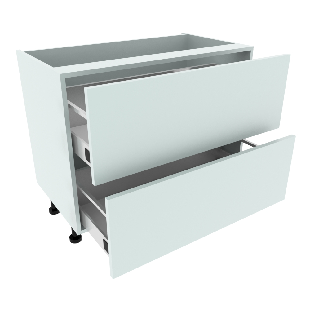 1000mm 2 Drawer Base Unit