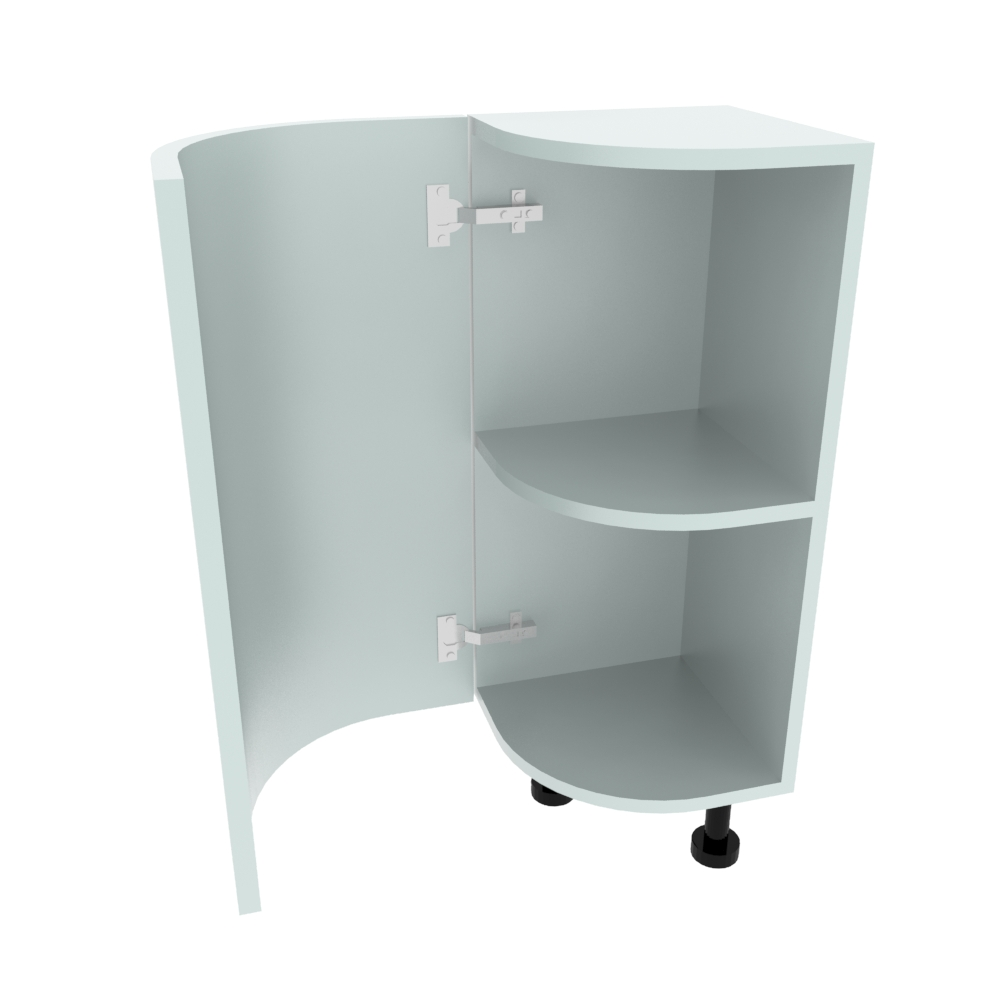 Curved Base Unit - 300 x 300mm - (R=190.5mm) (Left End)