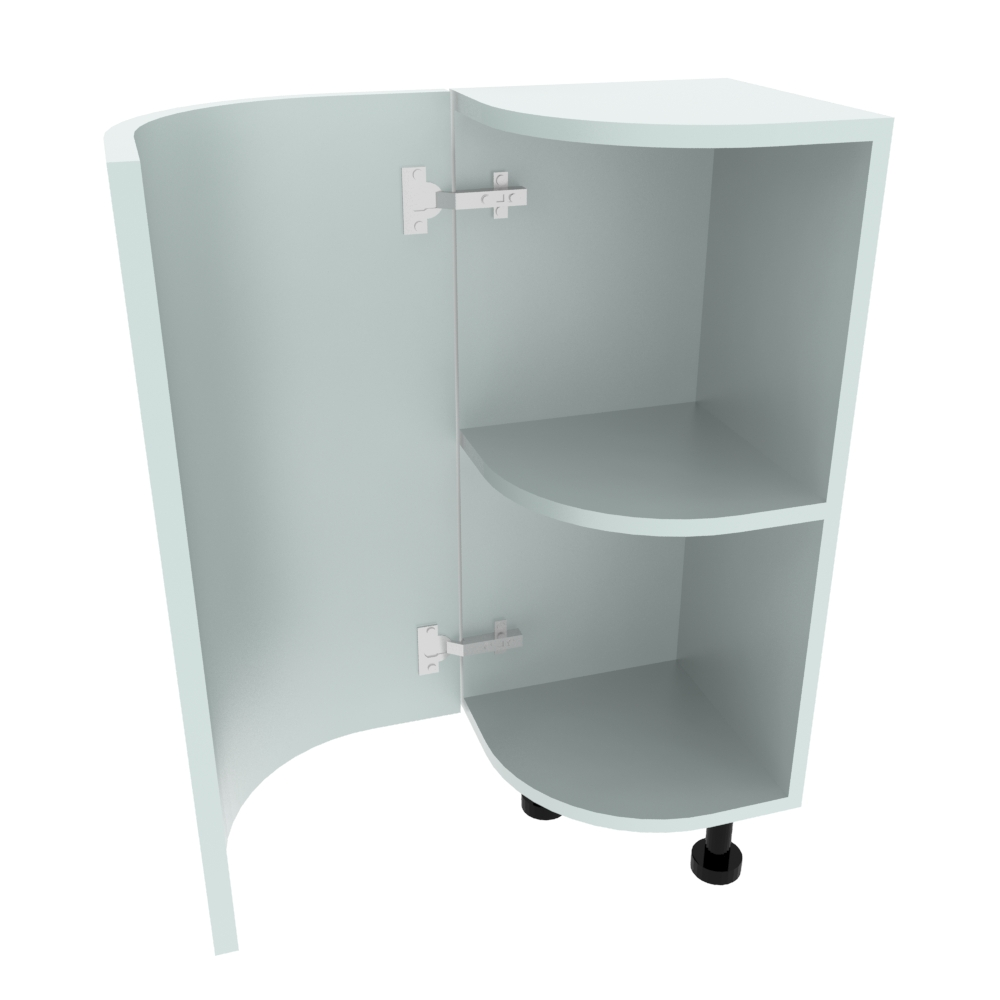 Curved Base Unit - 300 x 300mm - (R=200mm) (Left End)