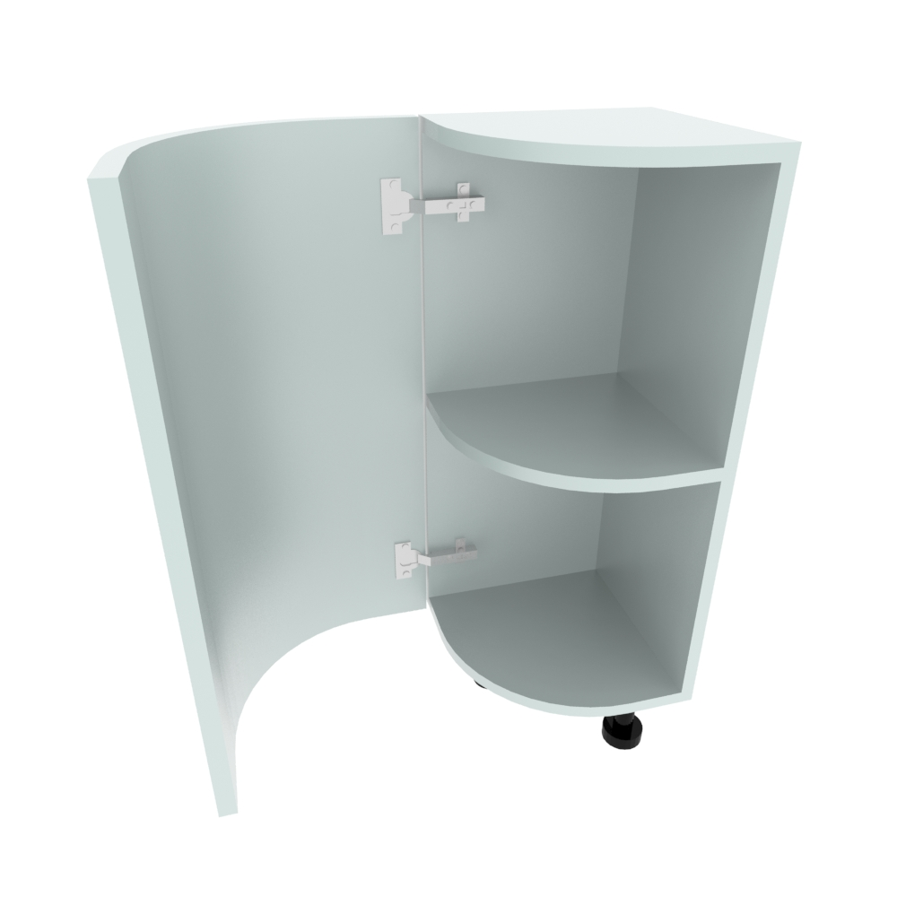Curved Base Unit - 300 x 300mm - (R=207mm) (Left End)