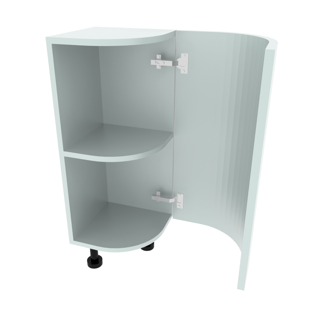Curved Base Unit - 300 x 300mm - (R=184mm) (Right End)
