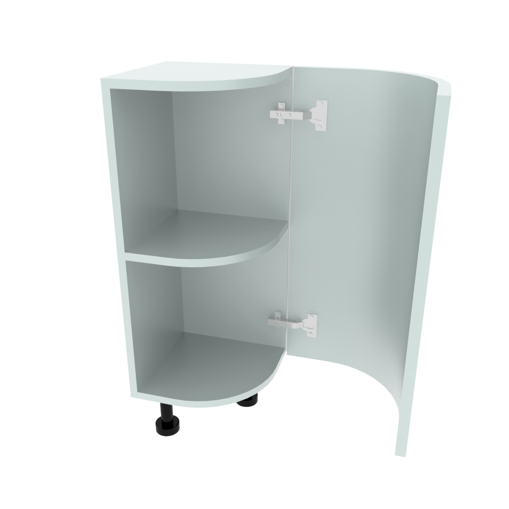 Curved Base Unit - 300 x 300mm - (R=188mm) (Right End)