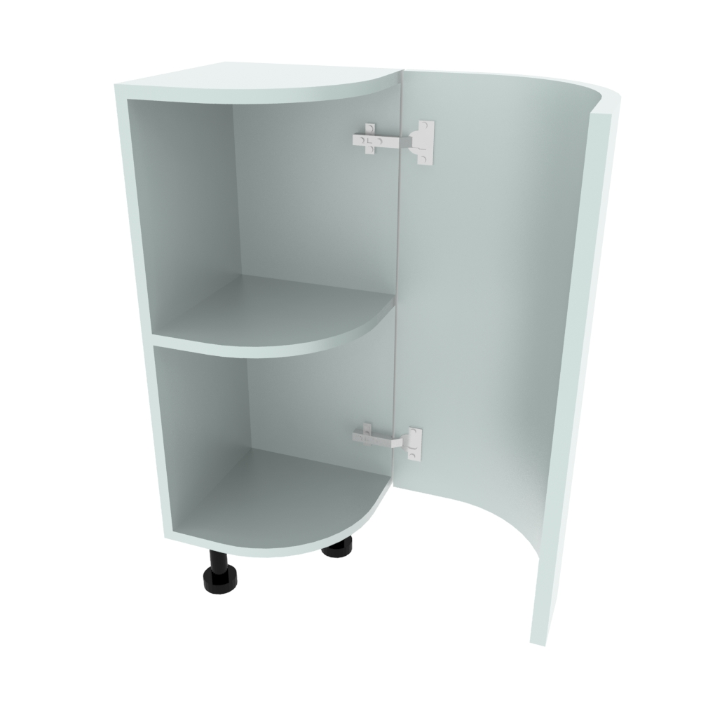 Curved Base Unit - 300 x 300mm - (R=200mm) (Right End)