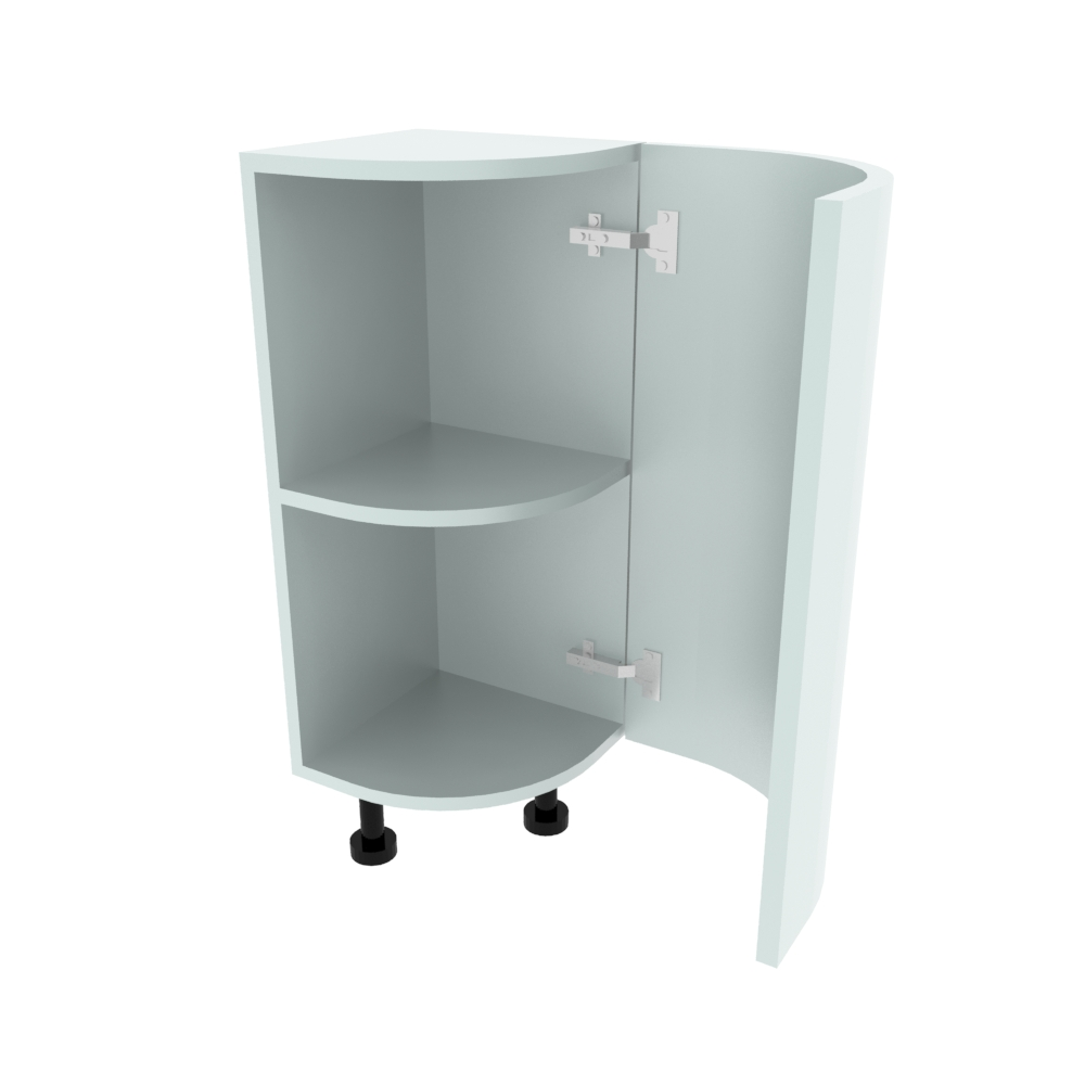 Curved Base Unit - 300 x 300mm - (R=207mm) (Right End)