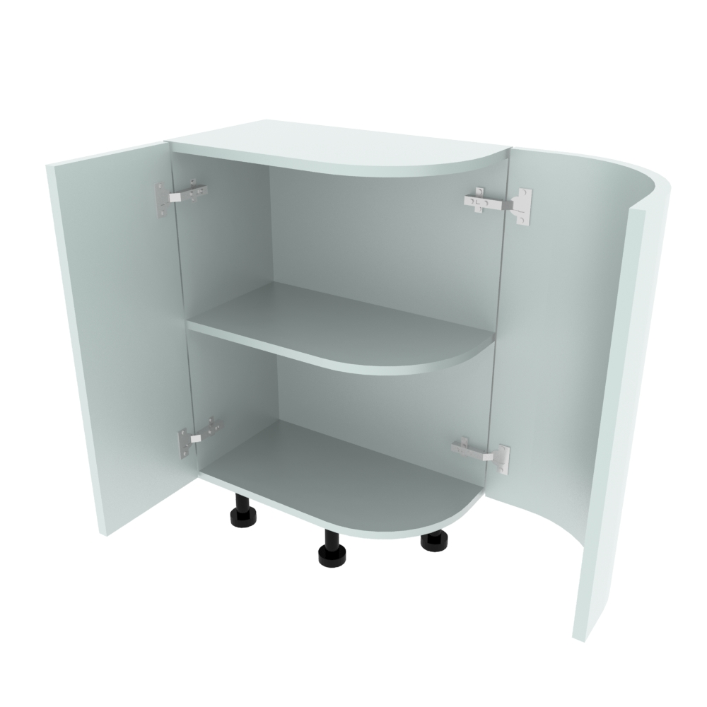 Curved Base Unit - 300 x 560mm - (R=207mm) (Left End)