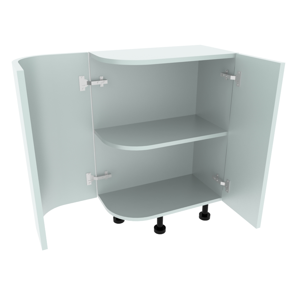 Curved Base Unit - 300 x 560mm - (R=165mm) (Right End)