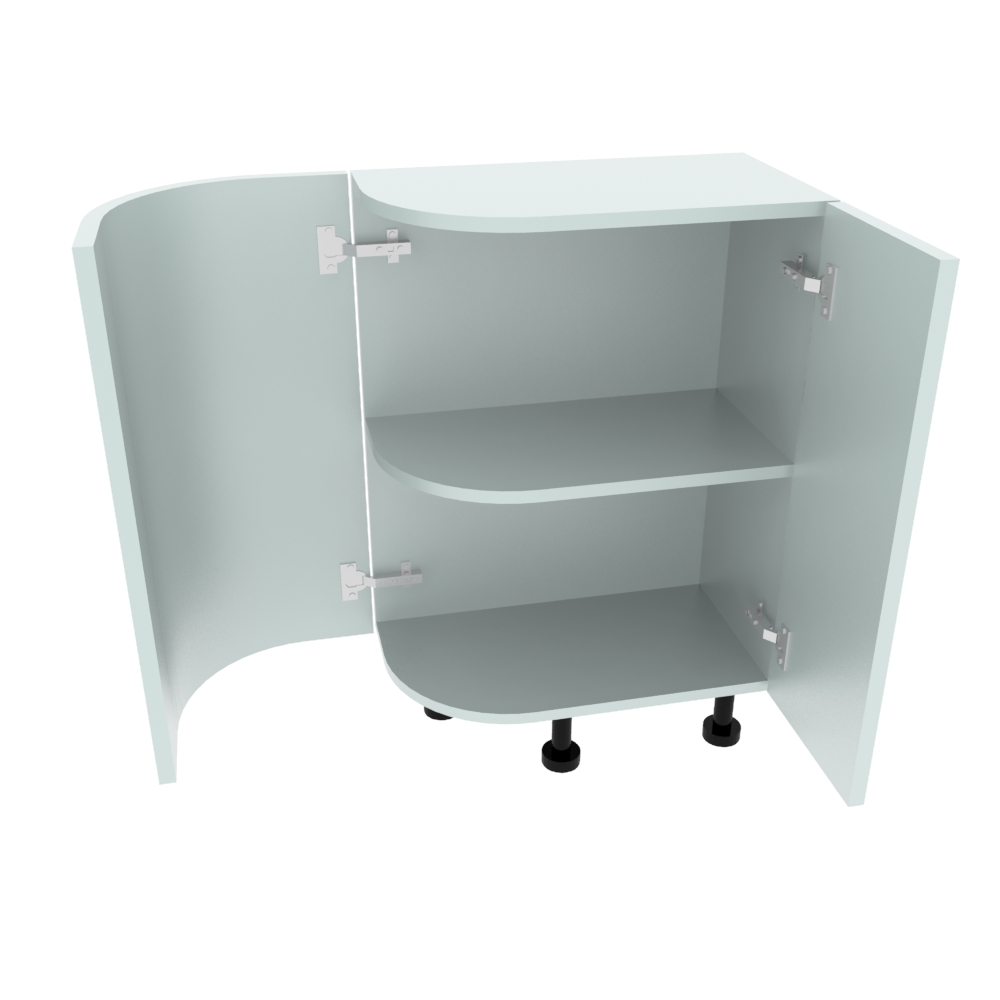 Curved Base Unit - 300 x 560mm - (R=190.5mm) (Right End)