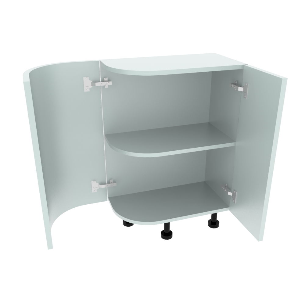 Curved Base Unit - 300 x 560mm - Radius 188mm (Right End)
