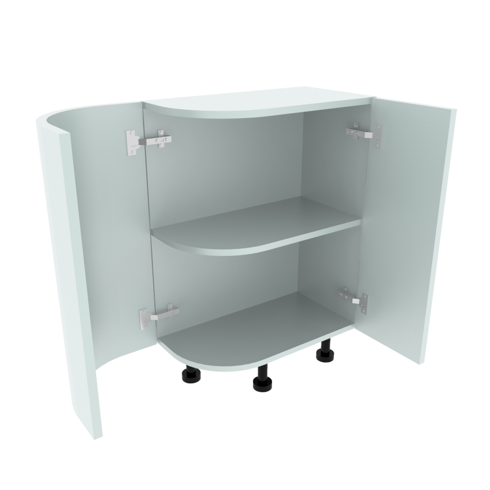 Curved Base Unit - 300 x 560mm - (R=191mm) (Right End)