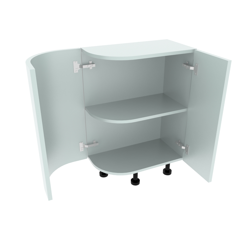 Curved Base Unit - 300 x 560mm - (R=200mm) (Right End)