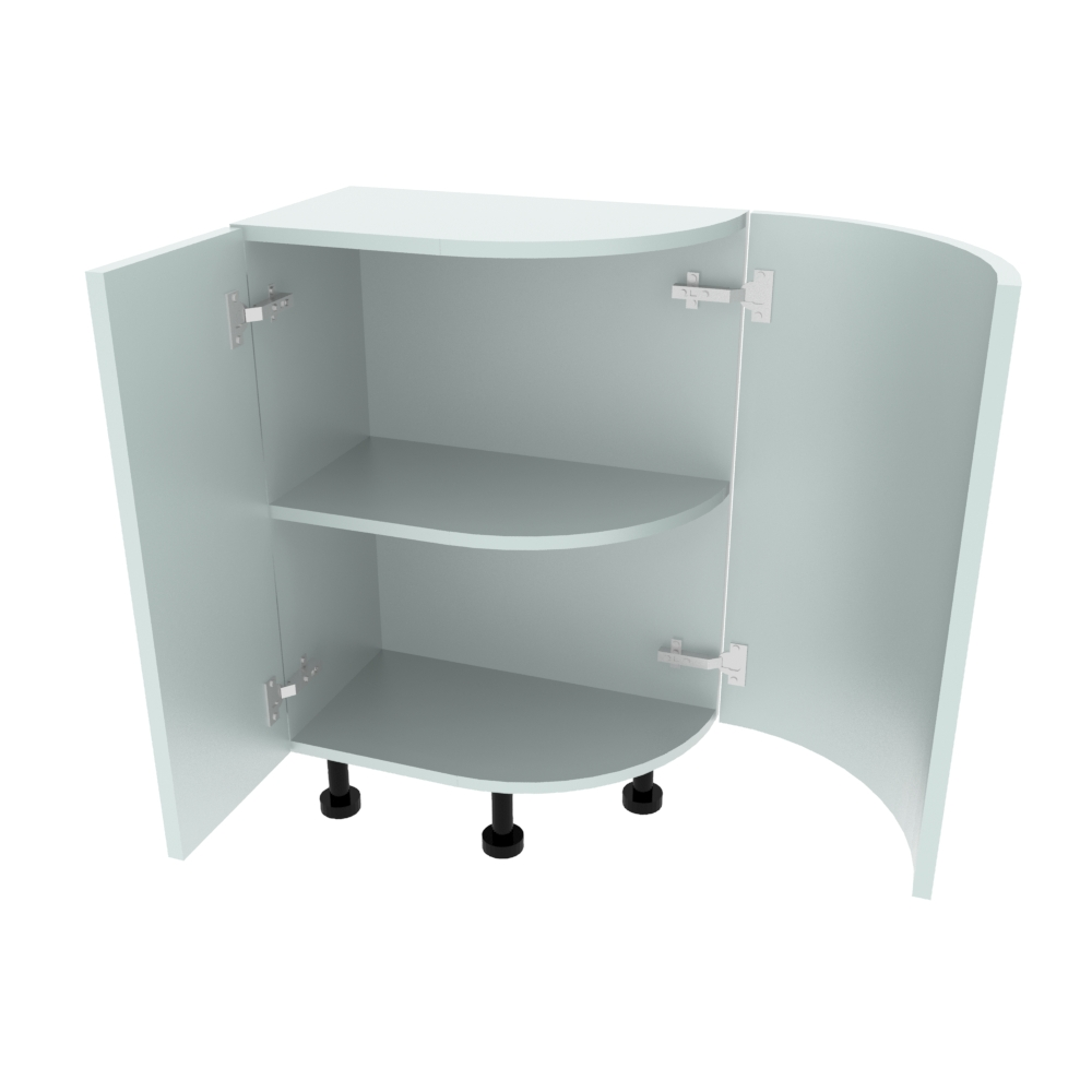 Curved Base Unit - 300 x 550mm - (R=288mm) (Left End)