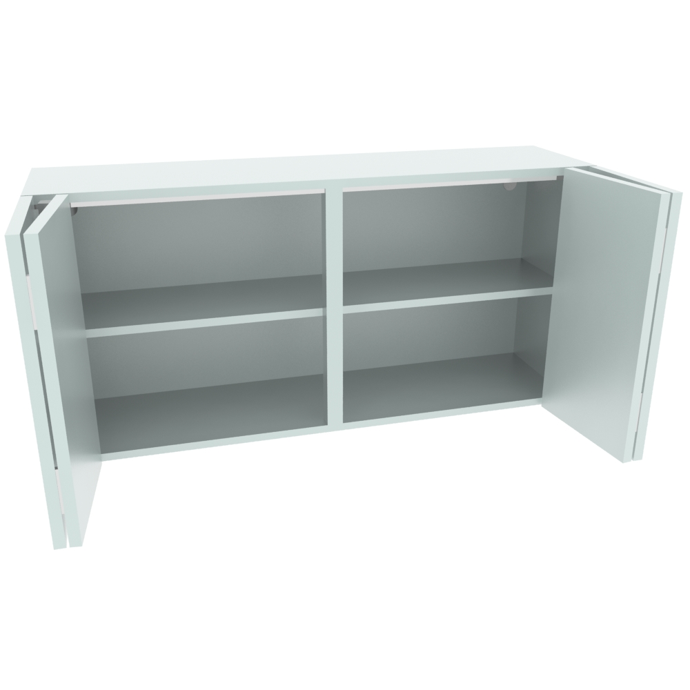 1200mm Horizontal Double Bi-Fold Wall Unit (Low)