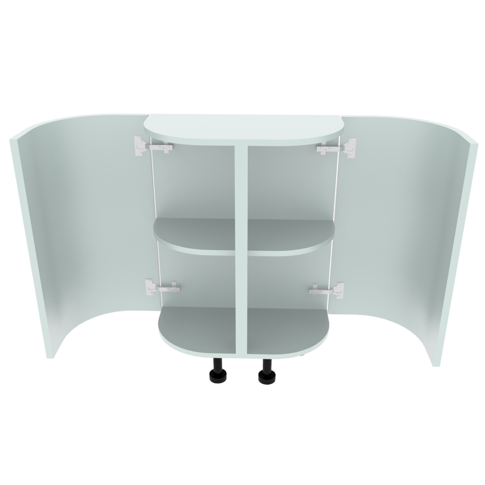 Double Curved Base Peninsular End Unit - 300 x 600mm - (R=200mm)