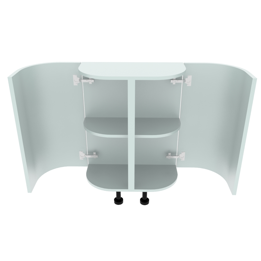 Double Curved Base Peninsular End Unit - 300 x 600mm - (R=184mm)